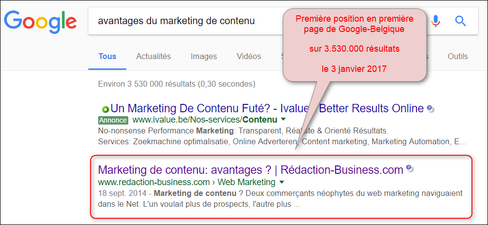 pack contenu textuel optimise google marketing de contenu