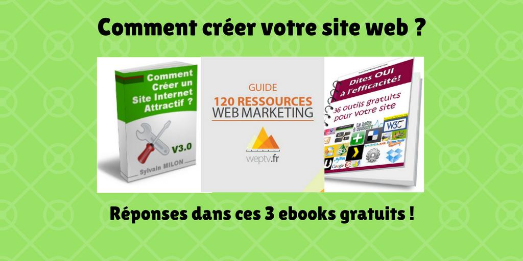 creer votre site internet ebooks gratuits