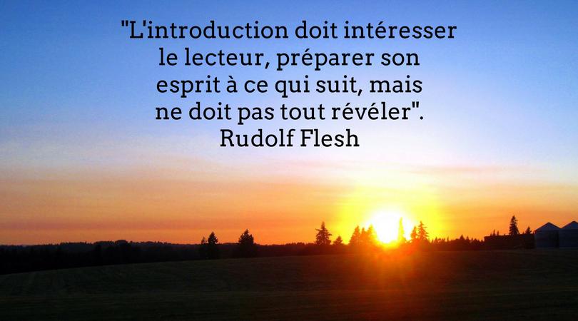 premier paragraphe Rudolf Flesh kit