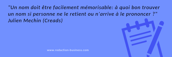reference connue nom entreprise citation Julien Mechin